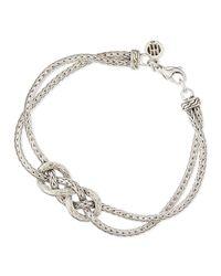 John Hardy Metallic Classic Chain Silver Love-knot Bracelet for men