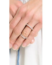 Fallon - Metallic Pave Infinity Ring Silver - Lyst