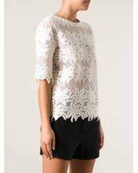 Chloé White Floral Lace T-Shirt