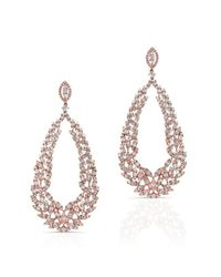 Anne Sisteron | Metallic 18kt Rose Gold Diamond Rome Earrings | Lyst