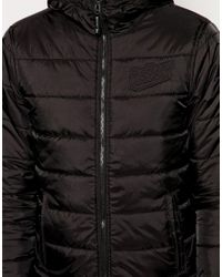 G-Star RAW - Black G Star Salvos Quilted Nylon Jacket for Men - Lyst