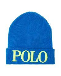 Polo Ralph Lauren | Blue Beanie Hat for Men | Lyst
