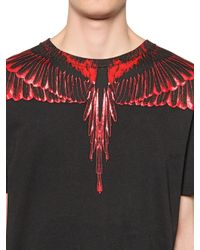 Marcelo Burlon | Black Rio Negro Printed Cotton Jersey T-shirt for Men | Lyst
