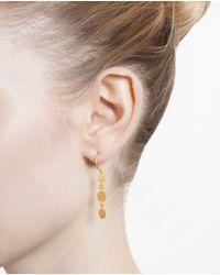 Marie-hélène De Taillac 18K Yellow Gold Disk Earrings