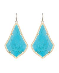 Kendra Scott - Blue Alexandra Earrings - Lyst