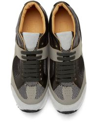 MM6 by Maison Martin Margiela Gray Grey Low_top Leather Sneakers