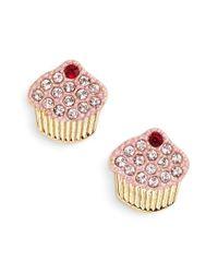 kate spade new york Metallic 'thing We Love - Cupcake' Stud Earrings