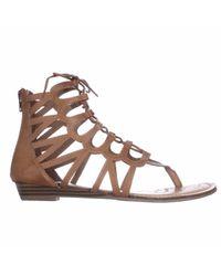 Rampage Brown Salina Lace-up Gladiator Sandals
