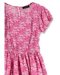 Forever 21 - Pink Ditsy Floral Print Dress - Lyst
