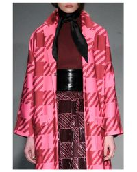 House of Holland   Pink Gingham Coat   Lyst