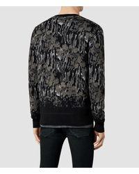 AllSaints - Gray Canopy Crew Sweater - Lyst
