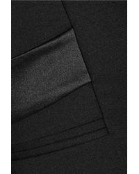 Dion Lee - Black Satin-Trimmed Wool Blazer - Lyst
