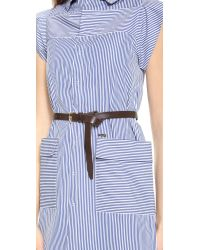 DSquared² Blue Sleeveless Cotton Dress