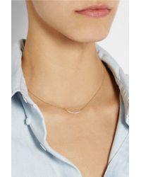 Scosha - Metallic Crescent Moon 14karat Gold Diamond Necklace - Lyst
