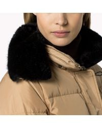 Tommy Hilfiger | Natural Down Hooded Jacket | Lyst