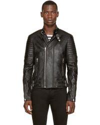 Diesel Black Gold | Black Leather Laxony Bike Jacket for Men | Lyst