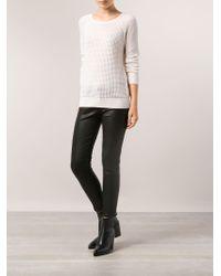 Vince - White Raglan Thermal Sweater - Lyst