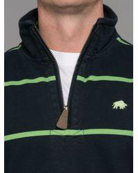 Raging Bull | Blue Big And Tall Stripe Quarter Zip Neck Hoodie for Men | Lyst