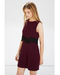 Warehouse Red Guipure Lace Dress
