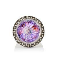 Sevan Biçakci | Purple Lotus Flower & Ladybug Intaglio Ring | Lyst