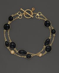 Roberto Coin | 18k Yellow Gold Confetti 2-row Bracelet With Diamonds And Black Enamel, .05 Ct. T.w. | Lyst