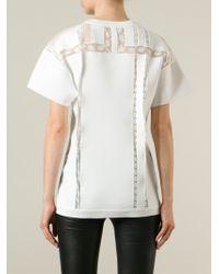 Ermanno Scervino - White Lace Detail T-shirt - Lyst