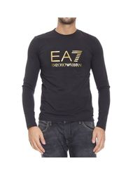 EA7 | Black T-shirt for Men | Lyst