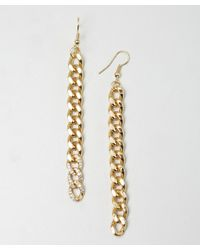 Joanna Laura Constantine - Metallic Gold and Crystal Chain Link Earrings - Lyst