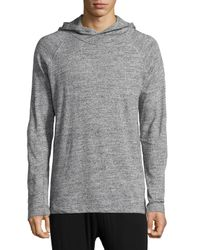 UGG - Gray Irving Melange Long-sleeve Hoodie for Men - Lyst