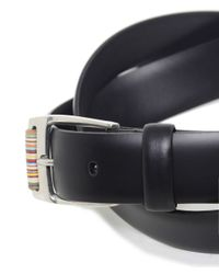 Paul Smith | Black Roller Leather Belt for Men | Lyst