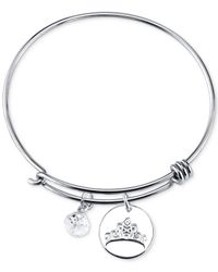 Disney - Metallic Dreams Charm Bangle Bracelet In Sterling Silver - Lyst