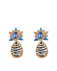 Shourouk | Blue Galaxy Sequins Earrings | Lyst