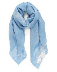 Hinge - Blue Bleach Dye Scarf - Lyst