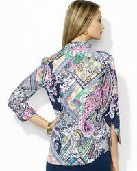 Ralph Lauren - Purple Lauren Petites Patchwork Print Shirt - Lyst