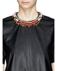 Venna - Orange Star Charm Spike Collar Necklace - Lyst