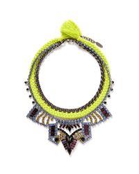 Joomi Lim | Yellow 'Rebel Romance' Cotton Braid Crystal Necklace | Lyst
