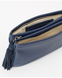 Ann Taylor | Blue Double Gusset Crossbody Bag | Lyst