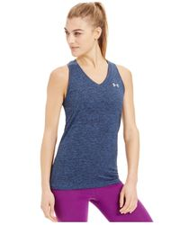 Under Armour | Blue Ua Tech™ Space-dyed Tank Top | Lyst