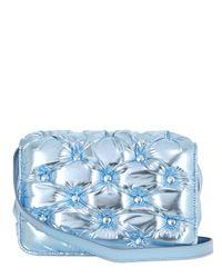 Benedetta Bruzziches Blue Carmen Quilted Laminated Shoulder Bag