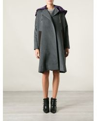 Kolor Gray Detachable Hoodie Coat