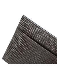 Dolce & Gabbana - Black Grey Iguana Skin Wallet for Men - Lyst