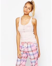 Floozie - Pink Ribbed Vest - Lyst