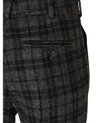 Golden Goose Deluxe Brand Black Plaid Wool Blend Flannel Trousers