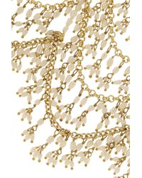 Rosantica - Metallic Golddipped Freshwater Pearl Collar - Lyst