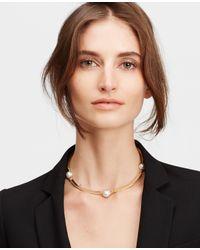 Ann Taylor | Metallic Pearlized Collar | Lyst