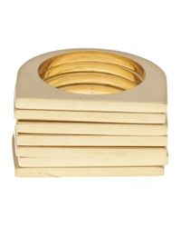 Uncommon Matters - Metallic Set Of 7 Rings - Lyst