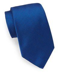 Ike Behar - Blue Neo Grenadine Silk Tie for Men - Lyst