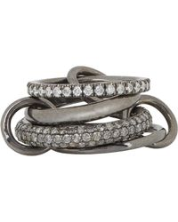 Spinelli Kilcollin | Metallic Women's vega Noir Pave Ring | Lyst