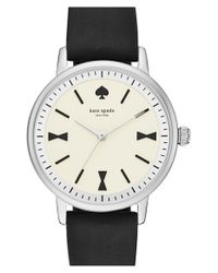 kate spade new york | Black 'crosby' Silicone Strap Watch | Lyst