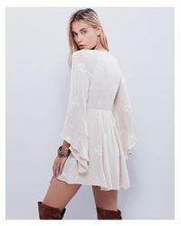 Free People - Natural Jasmine Embroidered Dress - Lyst